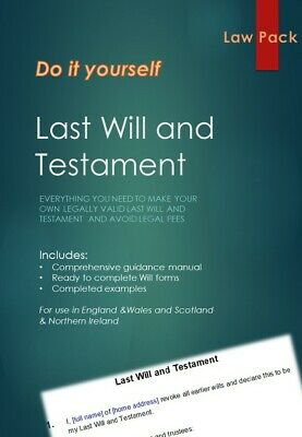 Last Will and Testament DIY Kit for England, Scotland, Wales & Northern Ireland