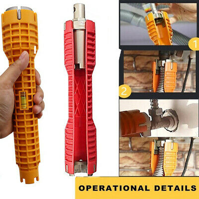 Install Tool Home&Kitchen Multifunctional Pipe Wrench Faucets Bathroom Spanner