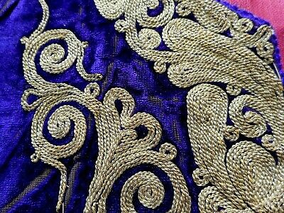 Antique, 19th Century hand embroidered garment fragments