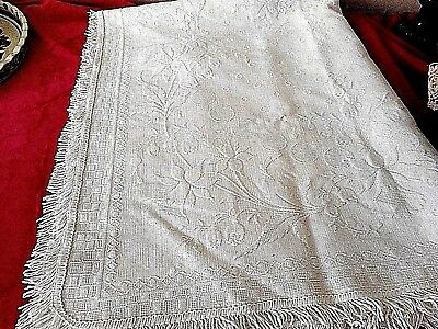 Antique Marseille cotton cot cover Marcella quilt