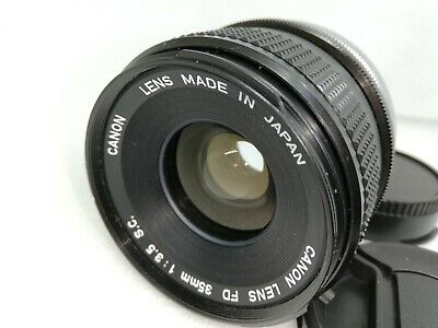 [EXC+5] Canon FD 35mm f/3.5 S.C. MF Wide Angle Prime SC Lens from JAPAN