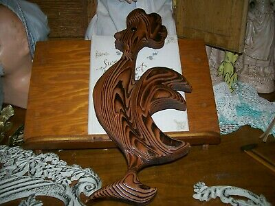 Vintage Witco Style Japan Carved Cryptomeria Japanese Cedar Wood Rooster