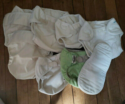 Cloth Pocket Diapers Lot of 7, 1 Insert - Bummies, Bumgenius, Mother-Ease