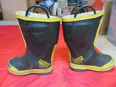 FireWalker Ranger WOMENS  7M  Firefighter Turnout Gear Rubber Boots Steel Toe