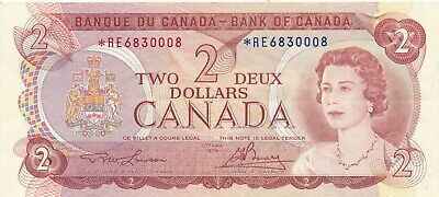 1974 $2 note Lawson Bouey *BJ 6311079 in AU