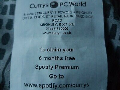 Spotify Premium 6 Months Code - New Account Only. 6 months usually costs £59.94