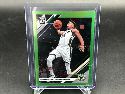 2019-2020 Donruss Optic NBA Giannis Antetokounmpo Lime Green Prizm 52/149