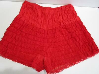Vintage Pettipants Bloomers Lace Square Dance Rockabilly Pin Up Panties Red XL