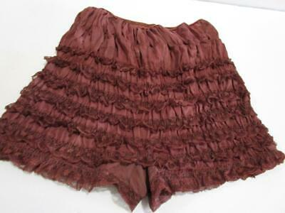 Vintage Pettipants Bloomers Lace Square Dance Rockabilly Pin Up Panties Brown M