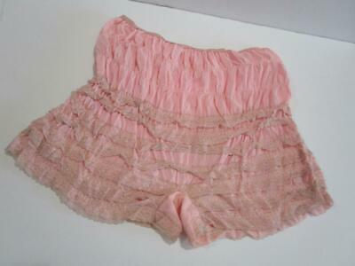 Vintage Pettipants Bloomers Lace Square Dance Rockabilly Pin Up Panties PInk L