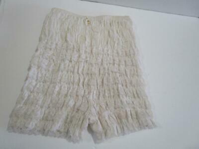 Vintage Pettipants Bloomers Lace Squaredance Rockabilly Pin Up Panties White S