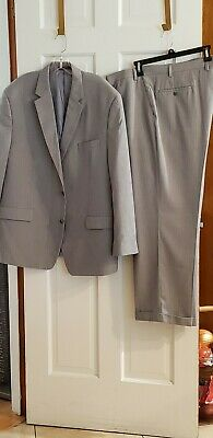 Michael Kors Men's Gray Rayon/Poly Blend 2 Pc Suit Flat Front Dual Vent 48R