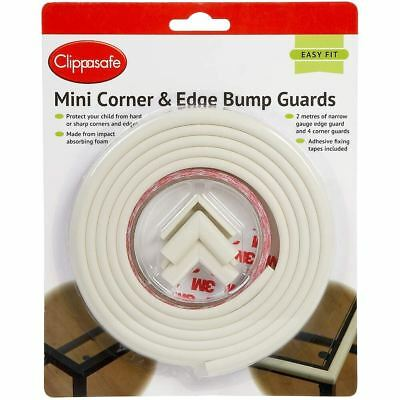 Clippasafe MINI CORNER & EDGE BUMP GUARDS Baby Child Safety - NEW