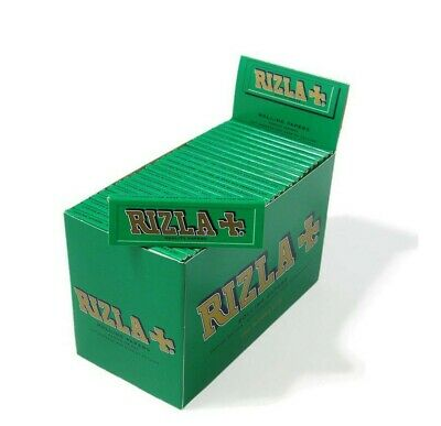 50 BOOKLETS Rizla GREEN Regular Genuine  Cigarette Rolling Papers