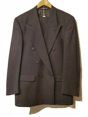 Christian Dior Monsieur Men's Gray Double Breasted Pleated Suit Size 40R