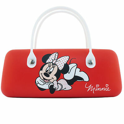 Childrens Hard Glasses Sunglasses Case with Handle Snap Lock Disney Minnie Mouse
