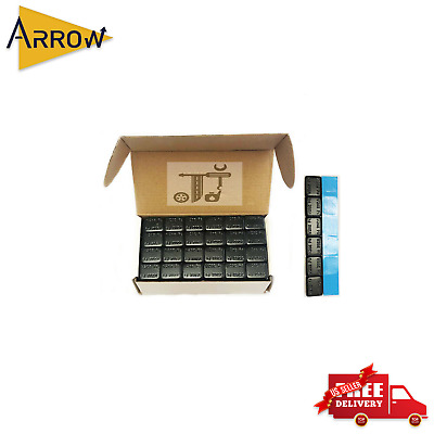 288 Pieces Black 1//2 oz 1 Box Wheel Weights 9 lbs Stick-on Adhesive Tape Lead Free,