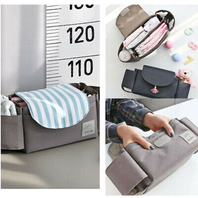 Universal Buggy Baby Pram Organizer Bottle Holder Stroller Caddy Storage Bag AU