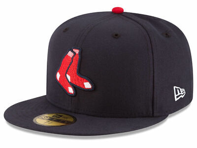 New Era Boston Red Sox ALTERNATE 59Fifty Fitted Hat (Navy) MLB Cap