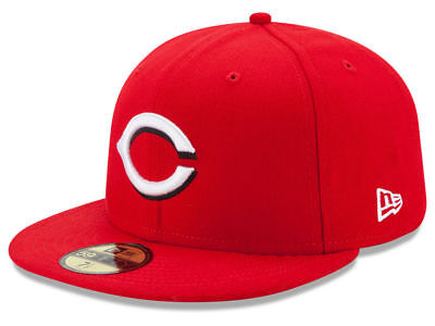 New Era Cincinnati Reds HOME 59Fifty Fitted Hat (Red) MLB Cap