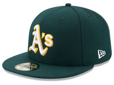 New Era Oakland Athletics ROAD 59Fifty Fitted Hat (Green) MLB Cap