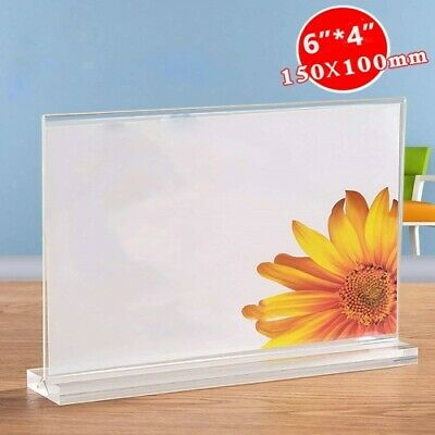 Clear Acrylic Bottom Load Display / Sign Holder Frames
