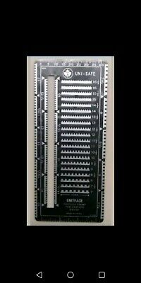 Unisafe stamps metal Perforation gauge... New... FREE SHIPPING USA / WORLD