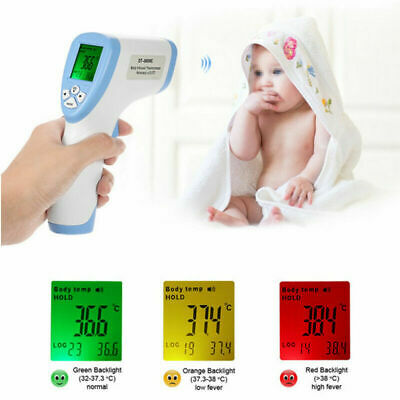 IR Digital Laser Non-Contact Forehead Thermometer Baby Adult Ear Temperature UK