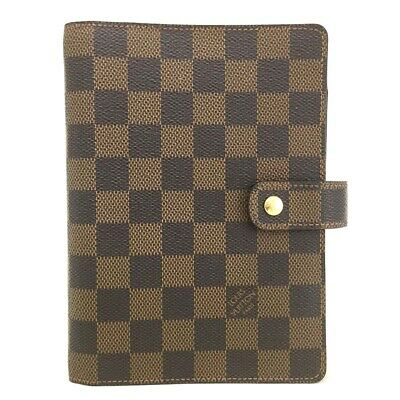 100% Authentic Louis Vuitton Damier Agenda MM Notebook Cover /a139