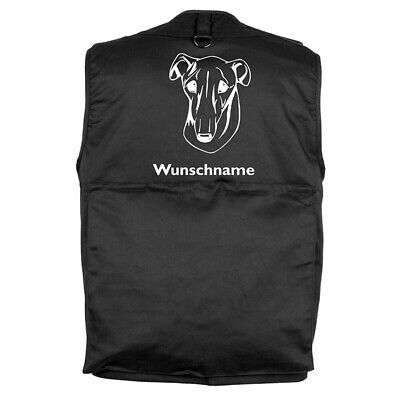 MIL-TEC Hundesport Outdoor Weste Galgo Espanol inkl. Wunschname