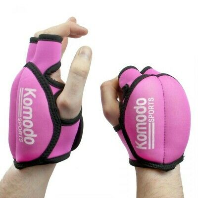 New Komodo Sports - Pink Weighted Training Gloves - 2kg (2x 1kg each)