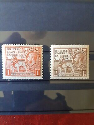 Gb Kgv British Empire Exhibition Stamps Mint 1925