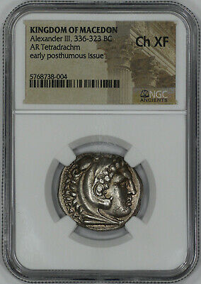 Kingdom Of Macedon Alexander Iii 336-323 Bc Ngc Ancient Coin Ch Xf (38004)