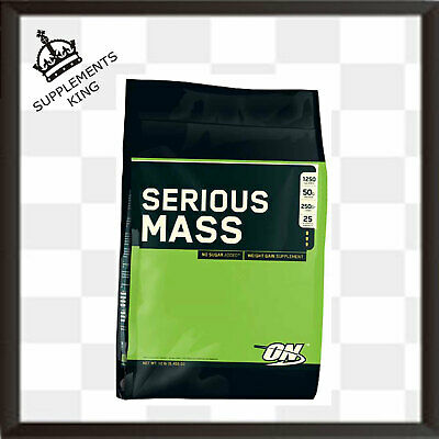 Optimum Nutrition Serious Mass 5.4kg Weight Gainer Mass Protein - ALL FLAVOURS