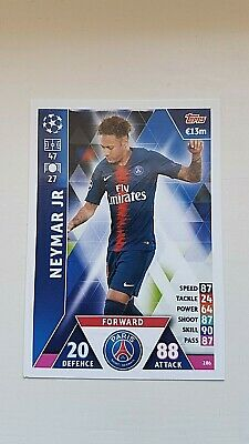 Match Attax - 18/19 - Neymar JR - Champions League - Paris Saint-Germain Nr. 286