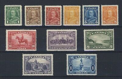 11x 1935 George V Pictorial Mint stamps 1c-$1.00 #217 to 227 GV=$145.00