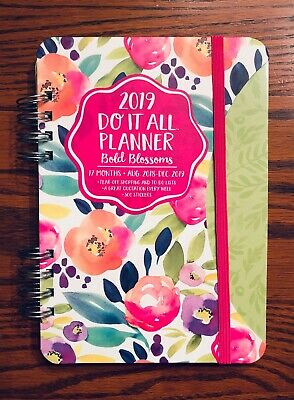2019 Weekly Planner | Agenda, Calendar, Notebook | Floral Blossoms | English