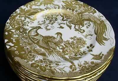 Royal Crown Derby GOLD AVES  A1235 salad plate up to 12 available