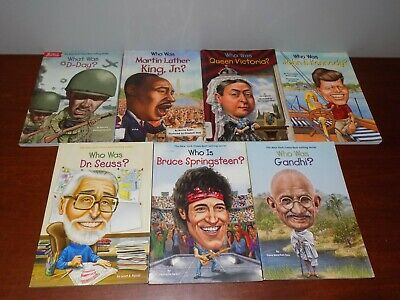 Lot of 7 WHO HQ books  - Who Is What Was PB Children's History