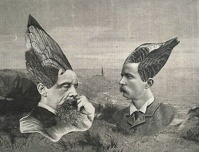 ORIGINAL SURREAL COLLAGE Victorian Edwardian 19th Century antique surrealist art