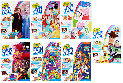 Crayola Color Wonder Activity - Mess Free Colour Wonder - Various Characters