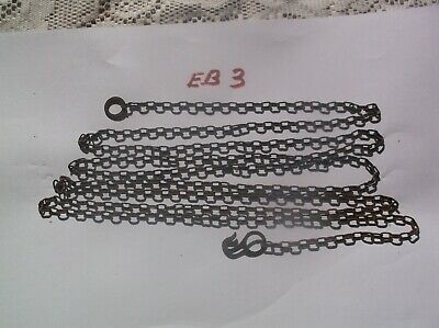 Steel Chain From An Old Cuckoo Clock 62 Lincs To The Ft  6 Ft Long Ref Eb3
