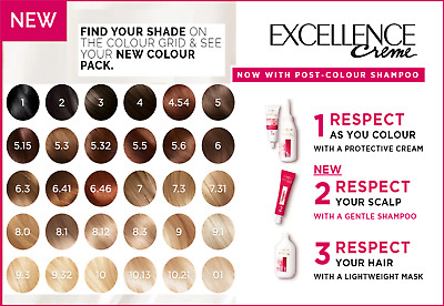 L'Oreal Paris Excellence Natural Hair Dye Creme All Colours Pro