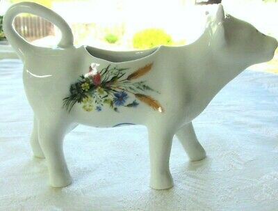 Cordon Bleu Cow Creamer Made In France Floral Blue Flowers
