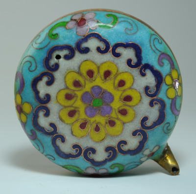 Collect China old hand-made cloisonne copper flower statue Water drop pot /Bb02