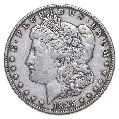 W@W Early 1885 Morgan Silver Dollar - 90% US Coin - Nice Coin *783