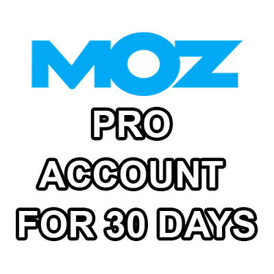 🔥Moz Pro Premium Account 30 Days To Do Powerful Keyword Researchs And More🔥
