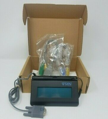 "Topaz Systems T-LBK460-B-R SigLite 1x5"" Electronics Signature Capture Pad Serial"
