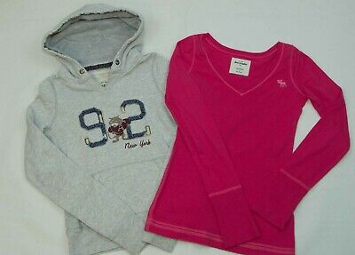 Girls Abercrombie And Fitch Hoody And Top Bundle Size S ( 9-11 Yrs) Vgc