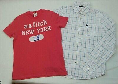 Abercrombie And Fitch Shirt And T Shirt Size L ( 11-13 Yrs) Vgc